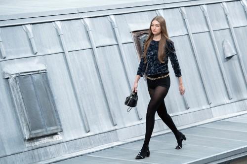 Gigi Hadid walks the runway during the Chanel Womenswear Spring/Summer 2020 show as part of Paris Fa
