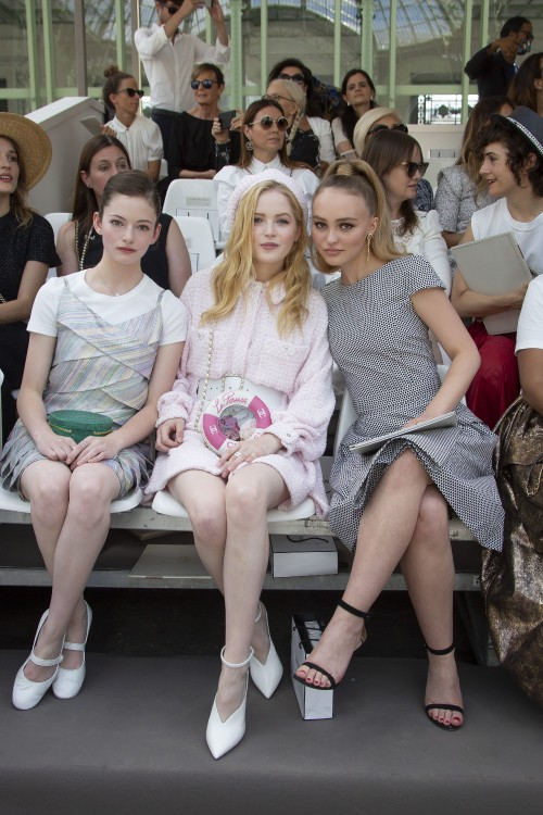 Celebrities on the front row of the Chanel Haute Couture Fall/Winter 2018-2019 show as part of Paris