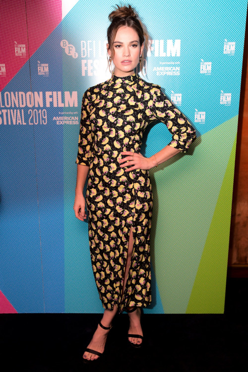 Lily James attending the Rare Beasts Premiere as part of the BFI London Film Festival 2019 held at t
